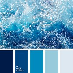 Color Palettes Inspired by the Ocean Inspo from our friends! Rough Ocean - In Color Balance.Inspo from our friends! Rough Ocean - In Color Balance. Blue Colour Palette, Colour Schemes, Color Combos, Color Blue, Color Shades, Eye Color, Paint Schemes, Blue Color Pallet, Beach Color Schemes