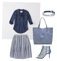 """""""Denim Delight"""" by ashley-anne-selvaggio on Polyvore featuring Abercrombie & Fitch, Band of Outsiders, Wild Diva and Sole Society"""