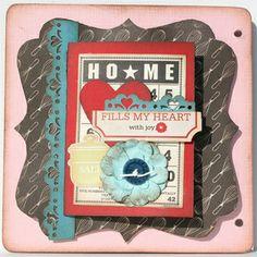 My Creative Scrapbook March Album Kit created by Kristin Greenwood.