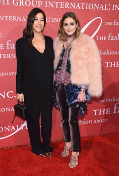 Honoree Rebecca Minkoff and Olivia Palermo attend the 2017 FGI Night Of Stars Modern Voices gala at Cipriani Wall Street on October 26 2017 in New...