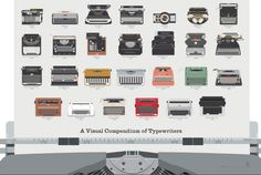 100 Years of Typewriters on One Giant Poster   Mental Floss