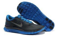 Mens Nike Free 4.0 V2 Black Royal Blue