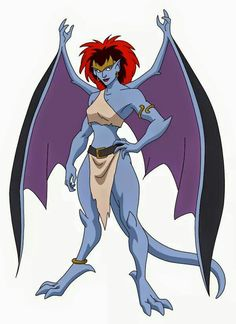 "Demona from ""Gargoyles""; voiced by Marina Sirtis Gargoyles Characters, Gargoyles Cartoon, Disney Gargoyles, Demona Gargoyles, Tarzan Y Jane, Fanart, Legendary Creature, Nerd Geek, Comic Book Characters"