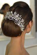 Elena Designs E765 Rhinestone Sprig Wedding Headpiece