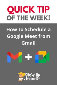 How to Schedule a Google Meet from Gmail Free Teaching Resources, Teacher Resources, Technology Integration, Mobile Learning, Google Classroom, Educational Technology, Shake, Schedule, Apps