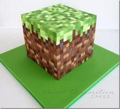Mmmm Minecraft cake!