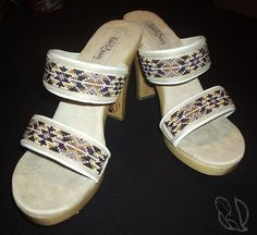 Strong Sisters beaded shoes, Walk-n-Beauty: A portion of all profit from the shoe Strong Sisters will go directly toward organizations or women's shelters that are a haven for Native Women who are victims of domestic abuse.