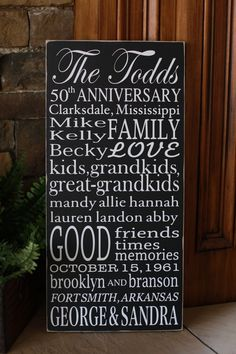 My grandparents have their 50th wedding anniversary this year, this would be so great!