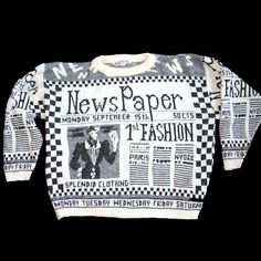 Newspaper Sweaters... what were we thinking?? ||  Mine was brown.