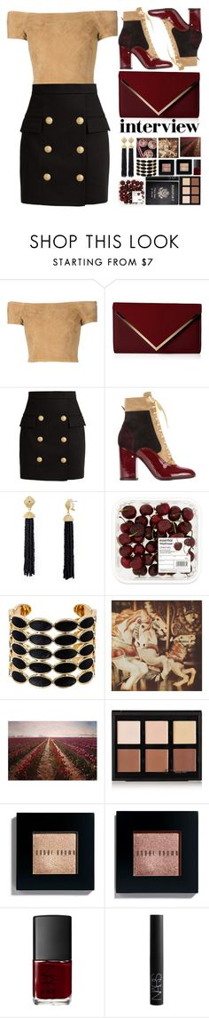 """#100"" by darina-kozlova ❤ liked on Polyvore featuring Alice + Olivia, ALDO, Balmain, Laurence Dacade, Aqua, House of Harlow 1960, Marmont Hill, Passport, Anastasia Beverly Hills and Bobbi Brown Cosmetics"