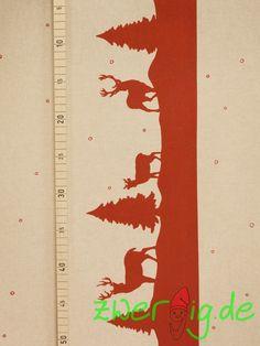 Weihnachtsstoffe - Dekostoff mit Winter-Bordüre - Weihnachtsstoff - ein Designerstück von zwergigDE bei DaWanda