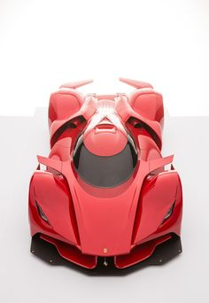 Futuristic Ferrari Le Mans Prototype Rendering