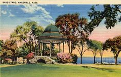 Wakefield Common and Bandstand by Lucius Beebe Memorial Library, via Flickr