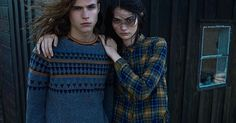 """The fresh and latest Pull and Bear Collection for Fall-Winter 2015 clothing collection campaign blows an idealistic fall temper in all aspect, not only in the remarkably mystical background selected for professional images, but also for wonderful fall style brought by beloved Spanish brand Pull and Bear. Both Grace Van Gastel and Antonina Vasylchenko link the macho models, graceful Arthur Gosse and smart Malcolm Lindberg featuring in the campaign photographs pictured in Sweden, """"Island of…"""