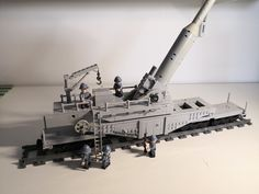 Obusier de 400 Modèle French rail gun howitzer from Lego Army, Lego Military, Military Vehicles, Lego Technic Truck, Rp Ideas, Lego Trains, Cool Lego Creations, Armor Concept, Lego Models