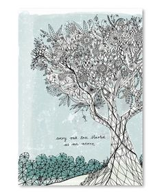 Americanflat Sweet William Every Oak Tree Graphic Art on Wrapped Canvas Size: Tree Wall Art, Framed Wall Art, Framed Prints, Painting Frames, Painting Prints, Art Prints, Tree Graphic, Graphic Art, Ink Pen Drawings