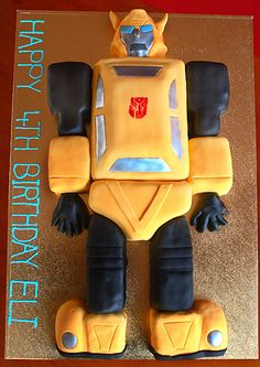 maybe... if I'm feeling ambitious also can reference this image: http://siriouslydelicious.blogspot.com/2012/01/transformer-cake.html