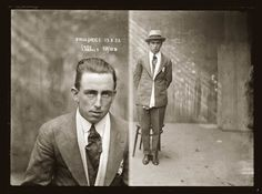 Mugshots from the 1920s: H. Price, 1923. Arrested for armed robbery.