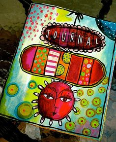 teesha's journal...gorgeous colours and so much detail.....doodling on a higher level.