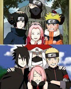 Team Kakashi, Sasuke, Sakura & Naruto sempre foi e sempre sera Naruto Team 7, Naruto Kakashi, Anime Naruto, Manga Anime, Naruto Art, Gaara, Otaku, Super Anime, Sakura And Sasuke