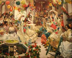 The Dance , Mural painting - (1911-1919) by Joaquín Sorolla