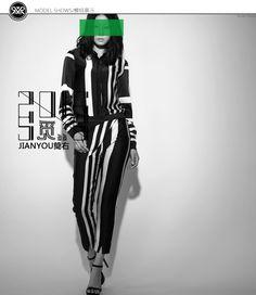 JIANYOU简右2016春夏黑白条纹衬衫JY-1067-淘宝网