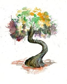 Juniper tree  Print  from my original watercolor painting 10x8 inch