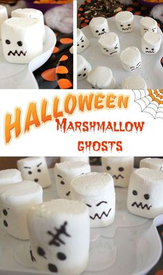 How to make marshmallow ghosts. makes great Halloween treats and ideal Halloween party food for a Halloween party.