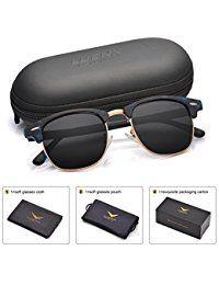 506595afec Men Clubmaster Polarized Sunglasses UV 400 Protection 51MM