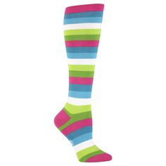 """""""Multi Stripe; Bright"""" Women's Knee Socks by SOCK IT TO ME 