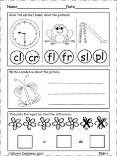 FREEBIE SAMPLE! Morning Work - Kindergarten - May (FREEBIE SAMPLE) - Writing, reading, and math skills included - Also great for homework, independent work, or center time.