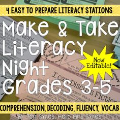 108 Best Literacy Night Images Classroom Ideas Classroom Themes