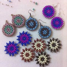 """ Superstar "" Tutorial Orecchini Superduo - Beading Superduo Star Earrings"