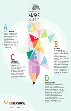 Infográfico 4 tendências design gráfico 2014
