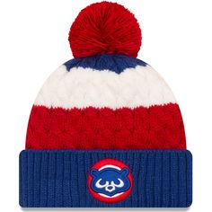 ba55aeb04bc Chicago Cubs Youth 1984 Layered Up Cuff Pom Knit  ChicagoCubs  Cubs   FlyTheW
