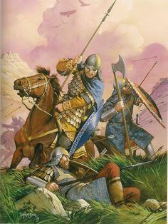 Lucha entre los Bizantinos y Turcos en la segunda Cruzada.   Mundohistoria.org