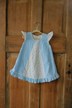 Beautiful Vintage Blue and White Floral by UltraVioletKids on Etsy, $22.00