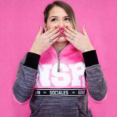 Erika, Sports Women, Suits, Sweaters, T Shirt, Design, Fashion, Pink And Gray, Windbreaker