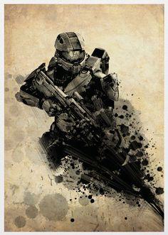 Halo 4 Poster A3 Print. $18.00, via Etsy.
