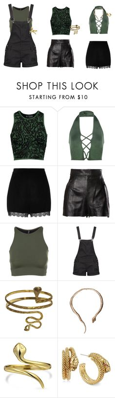 """Green"" by rocksanfangirl on Polyvore featuring Opening Ceremony, Boohoo, River Island, Moschino, Onzie, Urbiana, Bernard Delettrez, Bling Jewelry and Betsey Johnson"