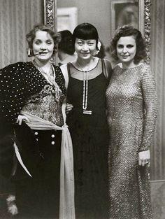 1929. Marlene Dietrich, Anna May Wong, Leni Riefenstahl, Berlin. - Serge Mouravski - Google+