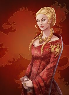Cersei Lannister by chubby--cat on DeviantArt Game Of Thrones Cersei, Arte Game Of Thrones, Game Of Thrones Fans, Cercei Lannister, A Dance With Dragons, Fire Art, Fire And Ice, Winter Is Coming, Character Art