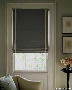 Learn how to make a classic Roman shade—combining the softness of curtains with the functionality of blinds—for lighting and privacy at home. House Blinds, Blinds For Windows, Mini Blinds, Room Planning, Window Coverings, Window Treatments, Fabric Shades, Beautiful Bedrooms, Roman Shades