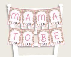Chair Banner Baby Shower Chair Banner Forest Girl Baby Shower Chair Banner Baby Shower Forest Girl Chair Banner Pink White prints OBJUF #babyshowergames #babyshower