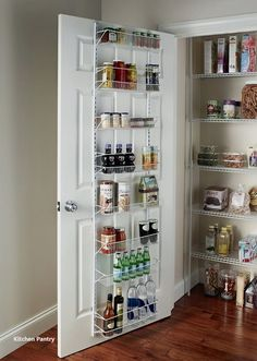 Over door spice rack back of pantry storage the organizer cabinet wall mount kitchen d . over door spice rack Door Spice Rack, Door Rack, Spice Rack Over The Door, Kitchen Pantry Storage, Kitchen Shelves, Kitchen Dining, Pantry Shelving, Bar Kitchen, Pantry Rack