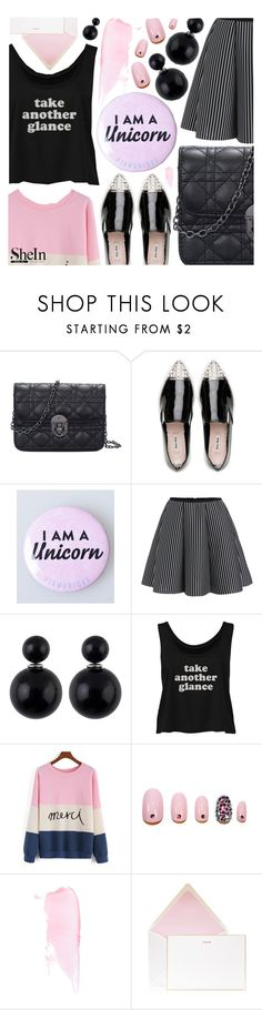 """Shop sales: Shein"" by pastelneon ❤ liked on Polyvore featuring Miu Miu, Static Nails and Bell'Invito"