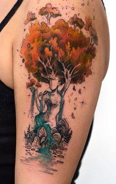 magical illustrative tattoo © tattoo artist Robson Carvalho 💘💘💘💘💘 Dope Tattoos, Pretty Tattoos, Beautiful Tattoos, Body Art Tattoos, New Tattoos, Sleeve Tattoos, Beautiful Drawings, Tatoos, Afro Tattoo