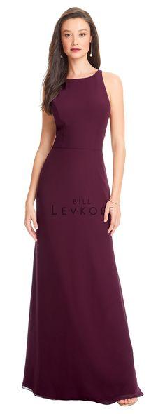 affb94e6f34 Bill Levkoff 1563 Cutout Back Bridesmaid Dress