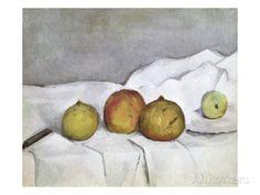 オールポスターズの ポール・セザンヌ「Fruit on a Cloth」ジクレープリント