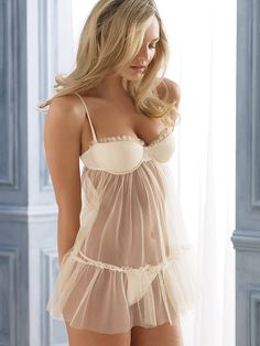 Tulle & Satin Babydoll - Sexy Little Things - Victoria's Secret